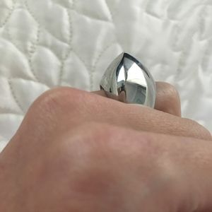 Vintage Jewelry - Silver Statement dome ring
